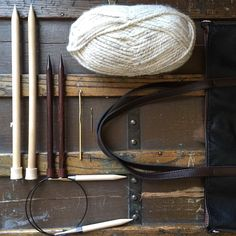 Participating in #etsyorganizedneatly 🗃 These are all things I use constantly in order to create. Here are some of my knitting needles (I have way more, too many to fit in this picture), circular needles (again, too many), one of my crochet hooks, a sewing needle, some yarn (duh), and a bag to carry it all in! All that's missing is a pair of scissors and a nice cup of coffee, which is probably every maker's most important tool ☕️