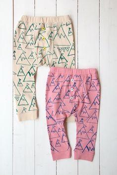 little girl and boy long underwear - TIPI レギンス - 100% picnic.