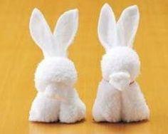 Fold a towel into a bunny