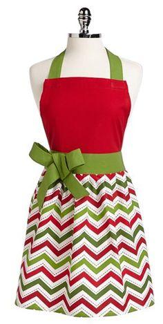 Gorgeous Christmas chevron apron!  http://rstyle.me/n/djzs6nyg6