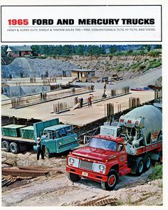 Ford and Mercury Truck 1965 Want to see more , look at my friend great site: Big Ford Trucks, Semi Trucks, Old Trucks, Cement Mixer Truck, Concrete Mixers, Ford Tractors, Heavy Duty Trucks, Truck Art, Car Ford