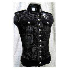 Royal Marine Vest by Shrine Clothing Goth Steampunk Mens Jackets ($225) found on Polyvore