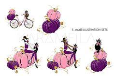 Halloween Witch Clipart by Karamfila on @creativemarket