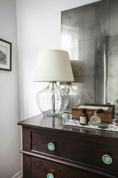 A DIY Antiqued Mirror for Less, from designer Katy Skelton