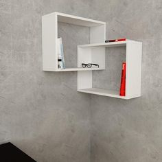 Ring corner wall shelf in white...  www.modernfurnituredeals.co.uk