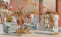 """Foreigners abound in the Court of Ramses the Great"", H. M. Herget"