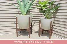 How To: Make A Modern Diy Plant Stand