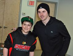 Dave Bolland with one of his biggest Fans Logan Williams
