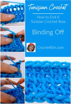 When working in Tunisian crochet, most projects will require a bind off row. You can see the empty spaces between the stitches on the last row, at the top, in this photo. Video Support This Crochet Tools, Crochet Supplies, Free Crochet, Knit Crochet, Crochet Granny, Easy Crochet, Crochet Projects, Tunisian Crochet Patterns, Knitting Patterns