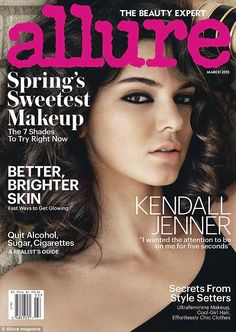Stunning: The 19-year-old looks amazing on the cover of Allure magazine, also photographed by Mario Testino