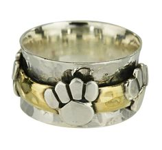 Merry Band of Paws Sterling Spinning Ring - Every Purchase Funds Food and Care for Rescued Animals.