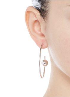 Maria Black | 'Orion Maxi' pierced hoop sterling silver earrings