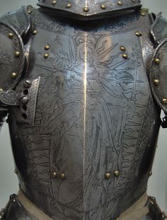 Armor of Emperor Ferdinand I (detail of breast plate: Virgin and Child)
