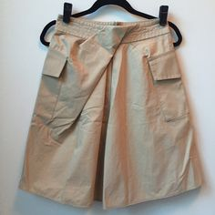 """3.1 Phillip Lim   dual pocket skirt Amazing fold over pleat detail at the waistline going into the center of the skirt. Side pockets. Partial back zipper. So cute w/ a button down or cropped sweater. Excellent condition, worn a handful of times. Took size label off but fits a small best. Length just under 22"""" Waist measures approx 14"""" laying flat 3.1 Phillip Lim Skirts A-Line or Full"""