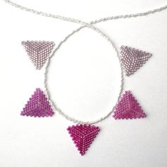 Pinks Beaded Bunting Necklace £15.00