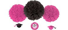 Pink & Black Graduation Party Supplies - Party City