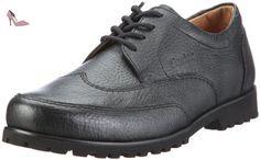 Ganter Gregor Weite G 2-257330-01000, Chaussures basses homme, Noir (schwarz/schwarz), 47 2/3 - Chaussures ganter (*Partner-Link)