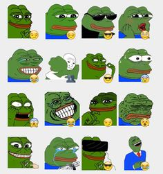 Pepe The Frog Stickers Set | Telegram Stickers