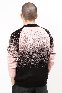Image of FADE MIX Black   Pink Knitted Sweater! Ombre Sweater fefd9325b46