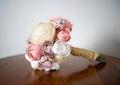 Handmade custom fabric flower bouquet