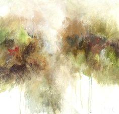 "Melissa Payne Baker, ""Gold Leaf I,"" mixed media on canvas, 18"" x 18"""