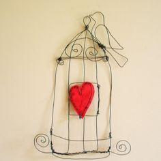 birdcage paper organizer by Jennifer Swift - birdfromawire