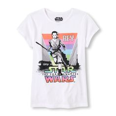 Girl's Short Sleeve Star Wars Force Awakens Rey Graphic Tee