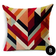 Wrought Studio Marcela Set of 2 Geometric Links Accent Decorative Throw Pillow Covers Cushion Case Multicolors in , Red/Orange/Gray Outdoor Throw Pillows, Decorative Throw Pillows, Accent Pillows, Throw Blankets, Couch Pillows, Throw Pillow Sets, Lumbar Pillow, Geometric Throws, Butterfly Watercolor