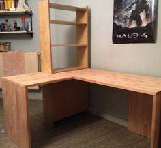 Schreibtisch mit integriertem Regal Bauanleitung zum selber bauen