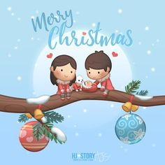 I know it's late but i hope it's not too late for Christmas Episode :) Merry Xmas everyone, here's a Xmas greeting e-card for everyone to share with their friends and familes! It's that time of the year. Merry Christmas 2016, Christmas Wishes, Merry Xmas, Christmas Time, Cute Couple Cartoon, Cute Cartoon Characters, Hj History, Christmas Episodes, Cute Love Stories