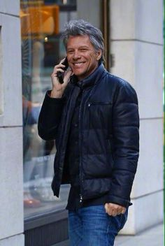Jon Bon Jovi, January 23, 2015 - NYC. Killer smile, still, after all these years!! So handsome!!