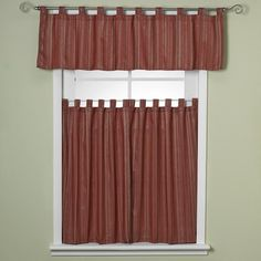 Red Tab Top Kitchen Curtain Ideas on tab top curtains with valance, cheap curtain ideas, kitchen window treatment ideas,