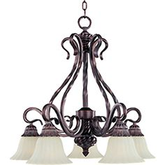 Pyramid Creations�Via Roma 5-Light Greek Bronze Chandelier