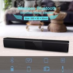 Bluetooth Speaker Sound Bar Wireless 3D stereo surround sound Music TV Computer Bluetooth Speakers Support 3.5mm TF USB(Black)  Price: 529.20 & FREE Shipping #computers #shopping #electronics #home #garden #LED #mobiles #rc #security #toys #bargain #coolstuff |#headphones #bluetooth #gifts #xmas #happybirthday #fun