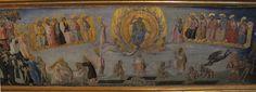 Giovanni di Paolo - Giudizio universale, dettaglio predella Madonna col bambino e santi - Pinacoteca Nazionale, Siena