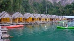 Floating cabins in Khao Sok, Thailand