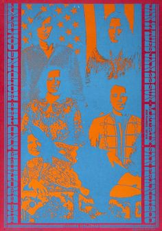 Big Brother and The Holding Company concert poster, San Francisco, 1967.