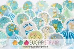 Sugar Stamp For Baby Boy by SugarStamp on Etsy Dessert Table, Baby Boy, Baby Shower, Stamp, Sugar, Boys, Creative, Babyshower, Baby Boys