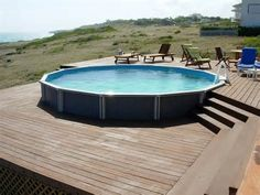 deck designs for round above ground pools