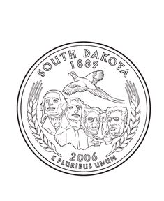 USA-Printables: State of South Dakota Coloring Pages