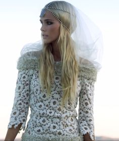 "Isabel Lucas, Chanel wedding dress in ""Bird on a Buffalo"" Angus Stone video"