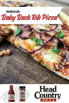 If you are searching for new and exciting football BBQ ideas, try out our Head Country Hawaiian Baby Back Rib Pizza! These unique baby back ribs will take your pizza party to a whole new level.