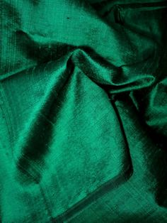 Dupioni silk Green with black shimmer Fat by FabricsAndTrims