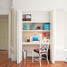 Small Home Office Design Inspiring Worthy Design Ideas Small Office Tiny House Small Modern. Furniture, Cool Small Home Office Design Home Office Space, Traditional Home Office, Closet Desk, Creative Home, Small Spaces, Maximize Small Space, Closet Office, Home, Home Office Design