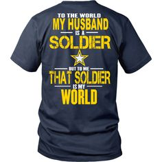 Army - To the world my Husband is a soldier - Back