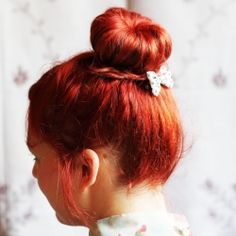 Tutorial on how to make an easy hair bun for people with shorter or thin hair.