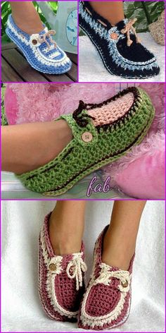 Crochet Adult Loafer Shoes Patterns - Adult Button Loafers Crochet Pattern