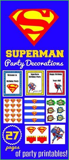 Here Some Free Printable Superman Invitations Cards Or Labels You Birthday