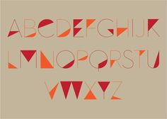 Angular Font by Patrick Tan, via Behance