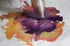 Melting crayon art with using hairdryer and NO GLUE.